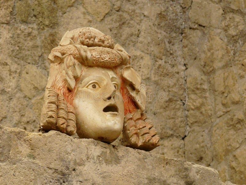 αρχαία πέτρα μασκών της Ιτα&lambd στοκ φωτογραφία με δικαίωμα ελεύθερης χρήσης