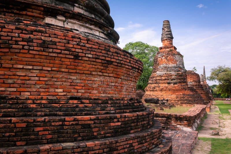 Αρχαία παγόδα, αρχαιολογική περιοχή σε Ayutthaya στοκ εικόνες
