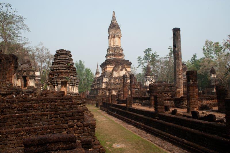 Αρχαία παγόδα σε Wat Jed Yod στο ιστορικό πάρκο Si Satchanalai στοκ φωτογραφίες