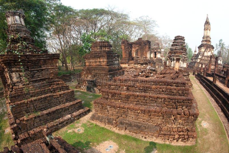 Αρχαία παγόδα σε Wat Jed Yod στο ιστορικό πάρκο Si Satchanalai. στοκ εικόνες με δικαίωμα ελεύθερης χρήσης