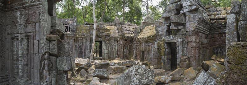 Αρχαία πανοραμική άποψη ναών στοκ φωτογραφία με δικαίωμα ελεύθερης χρήσης