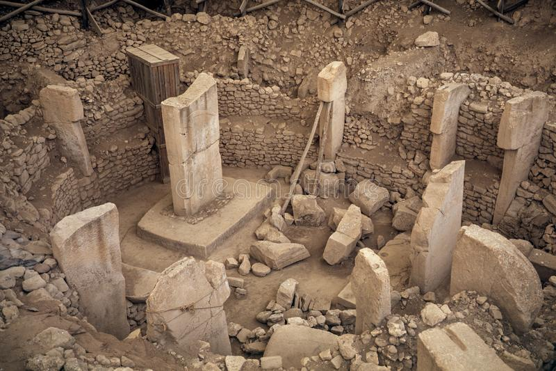 Αρχαία περιοχή Göbekli Tepe στη νότια Τουρκία στοκ εικόνα με δικαίωμα ελεύθερης χρήσης