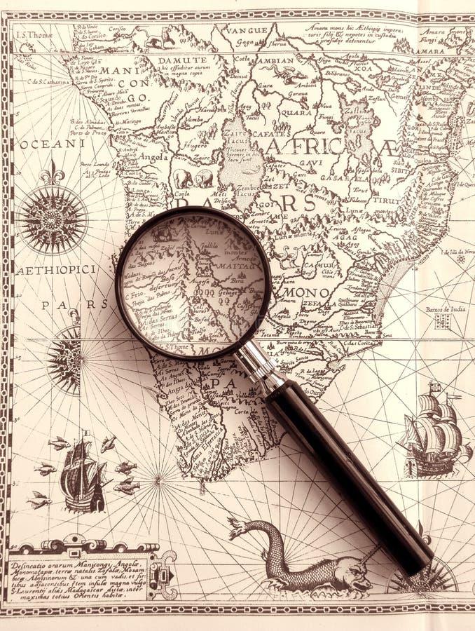 αρχαία πιό magnifier θάλασσα διαγ&rh στοκ εικόνες