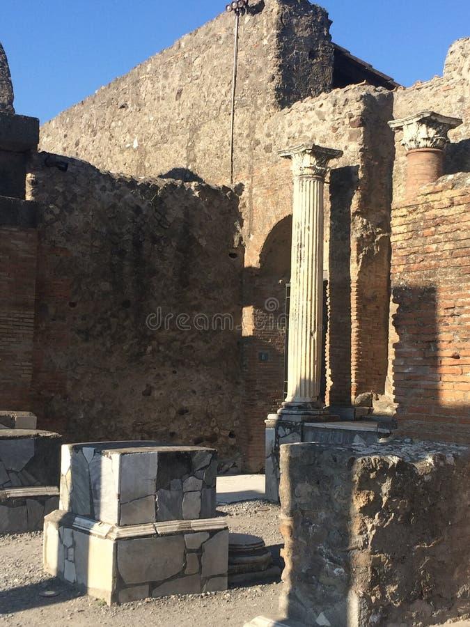 Αρχαία πόλη της Πομπηίας στοκ φωτογραφία με δικαίωμα ελεύθερης χρήσης