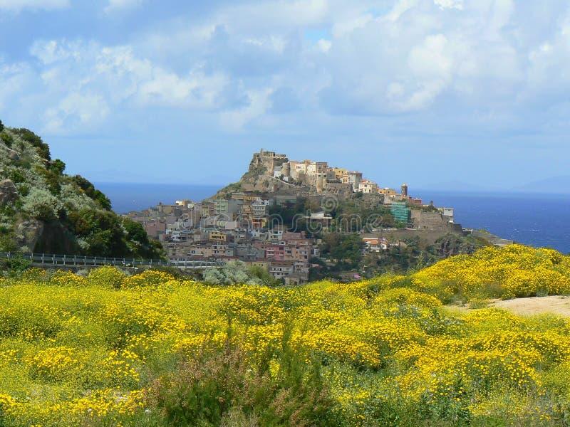 αρχαία πόλη της Σαρδηνίας castels στοκ εικόνες