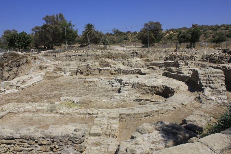 Αρχαία πόλη βιβλικού Ashkelon στο Ισραήλ στοκ εικόνα