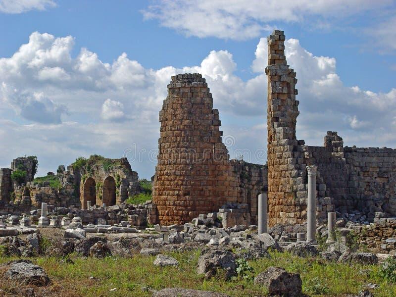 Αρχαία πόλη Perge στοκ φωτογραφία με δικαίωμα ελεύθερης χρήσης