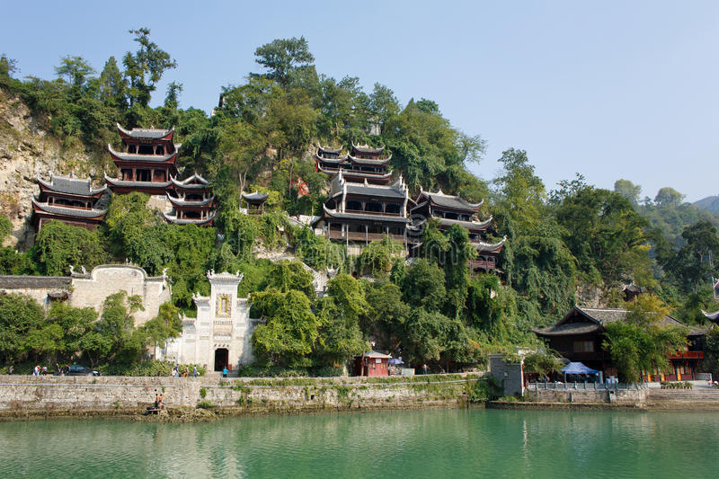Αρχαία πόλη Zhenyuan σε Guizhou Κίνα στοκ εικόνα