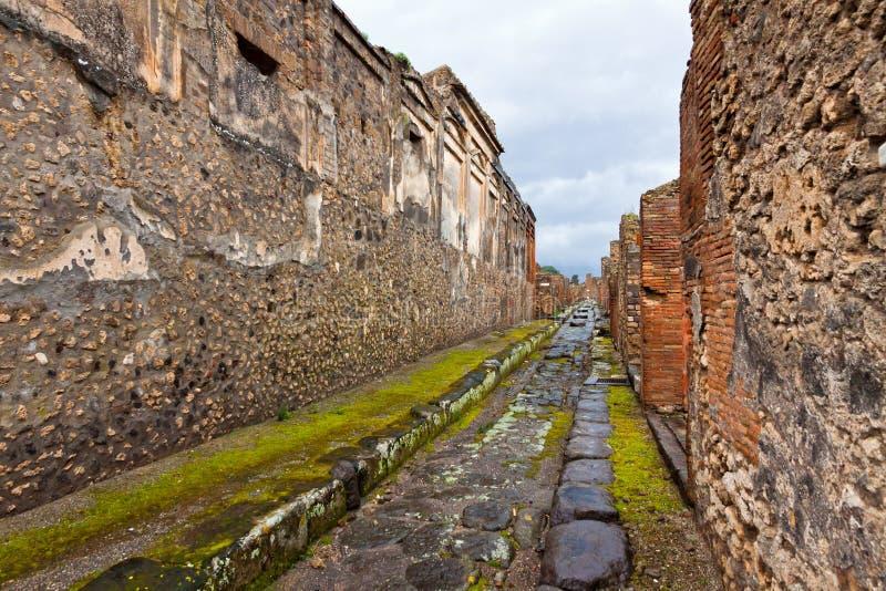 Αρχαία ρωμαϊκή πόλη της Πομπηίας, Ιταλία στοκ φωτογραφία με δικαίωμα ελεύθερης χρήσης