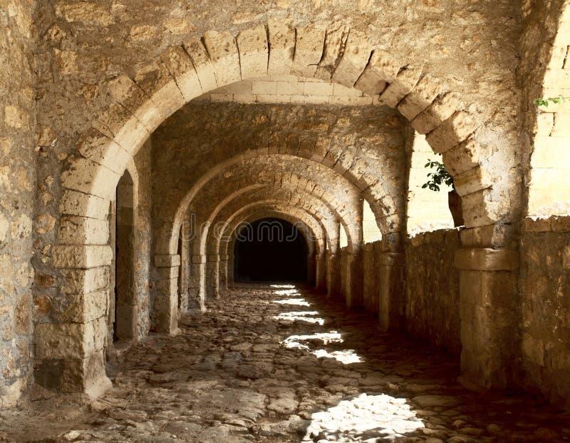 αρχαία σχηματισμένη αψίδα σή στοκ φωτογραφίες με δικαίωμα ελεύθερης χρήσης