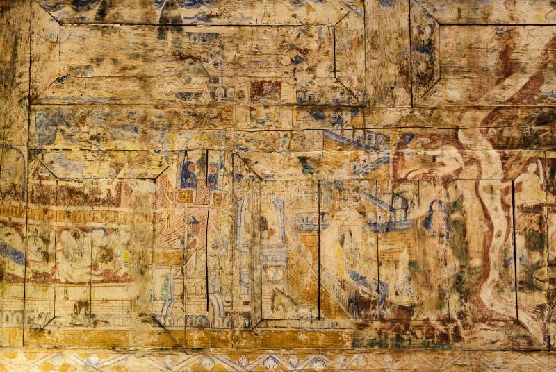 Αρχαία ταϊλανδική mural ζωγραφική στοκ φωτογραφία με δικαίωμα ελεύθερης χρήσης