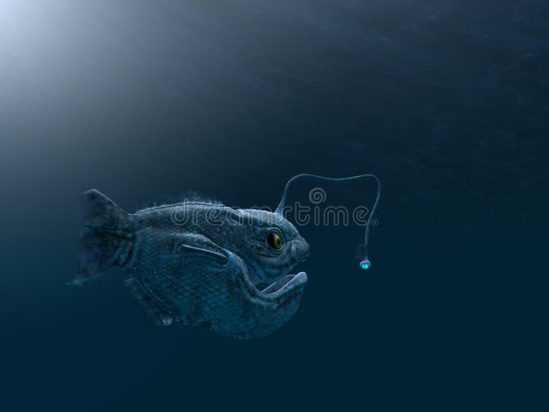 Αρχαία ψάρια ψαράδων διανυσματική απεικόνιση
