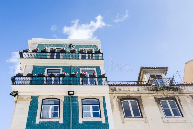 Αρχαία façades Λισσαβώνα Πορτογαλία στοκ εικόνες με δικαίωμα ελεύθερης χρήσης