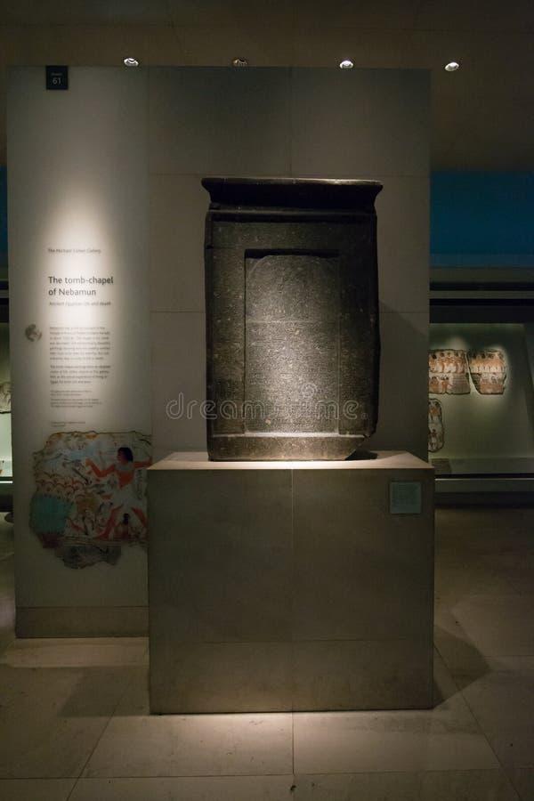 Αρχαία hieroglyphs στο βρετανικό μουσείο στοκ εικόνες