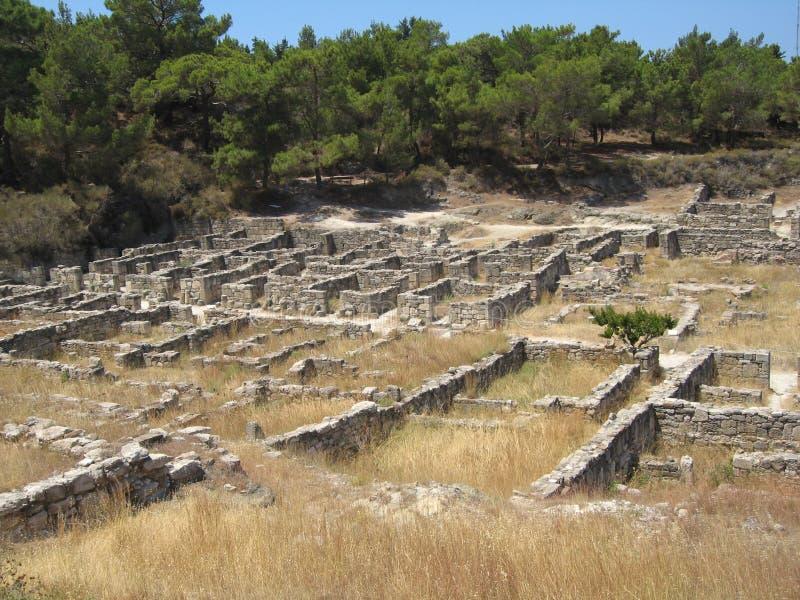 αρχαία kamiros Ρόδος πόλεων στοκ φωτογραφία με δικαίωμα ελεύθερης χρήσης