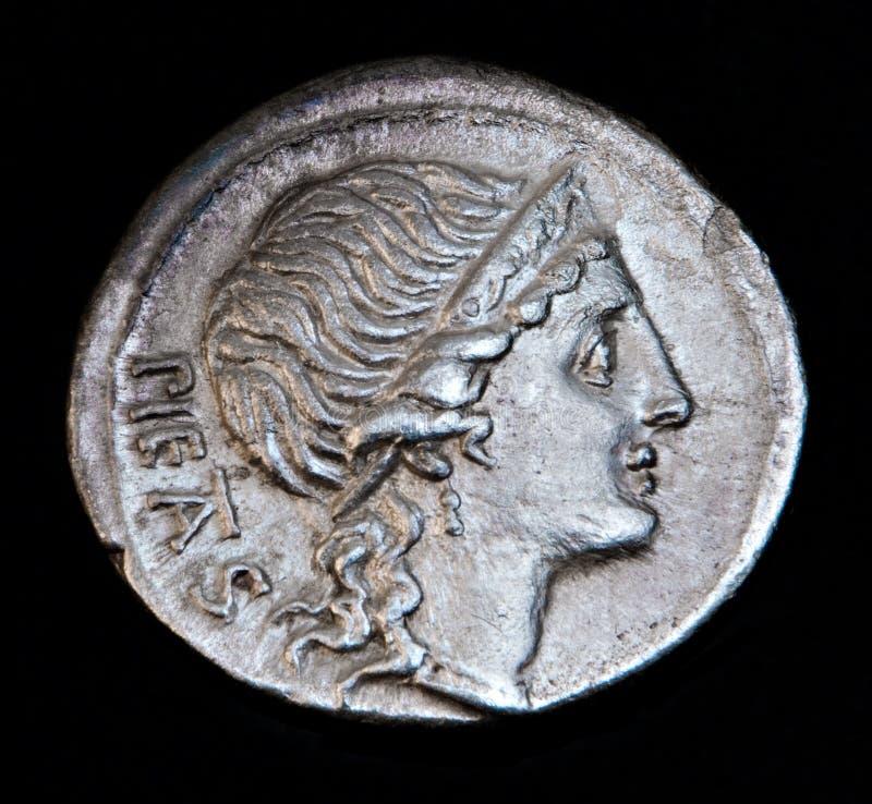 αρχαία pietas Ρωμαίος νομισμάτων στοκ φωτογραφίες με δικαίωμα ελεύθερης χρήσης