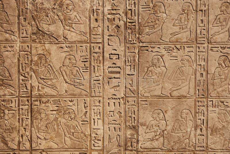 Αρχαίες ιερογλυφικές εικόνες στοκ εικόνες