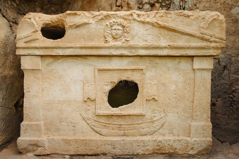 Αρχαίες καταστροφές πόλεων και Olympos Lycia τουρκικές, ταξίδι στην Τουρκία στοκ εικόνες