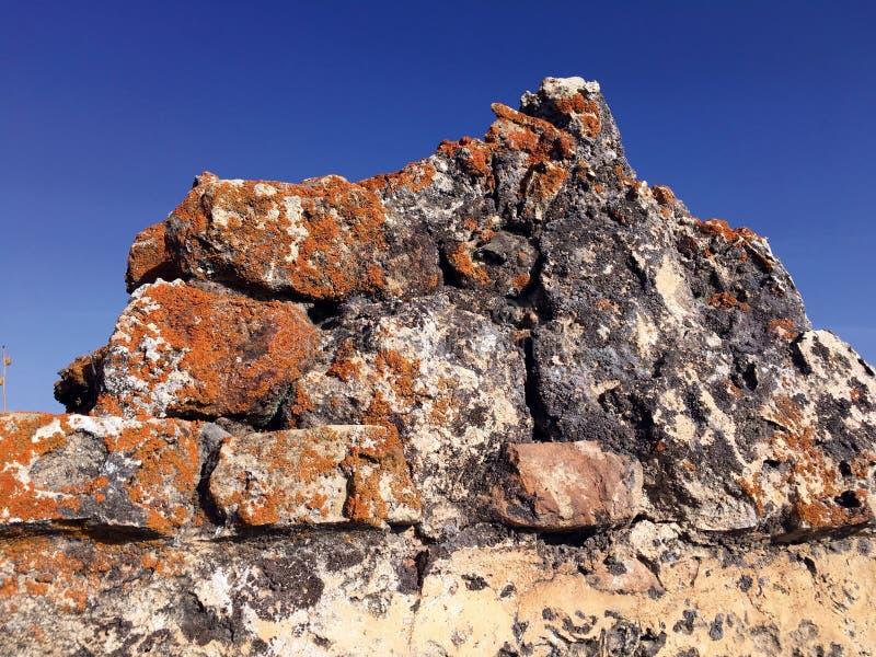 Αρχαίες καταστροφές σε Castillo Las Aguzaderas, Ανδαλουσία, Ισπανία στοκ εικόνες