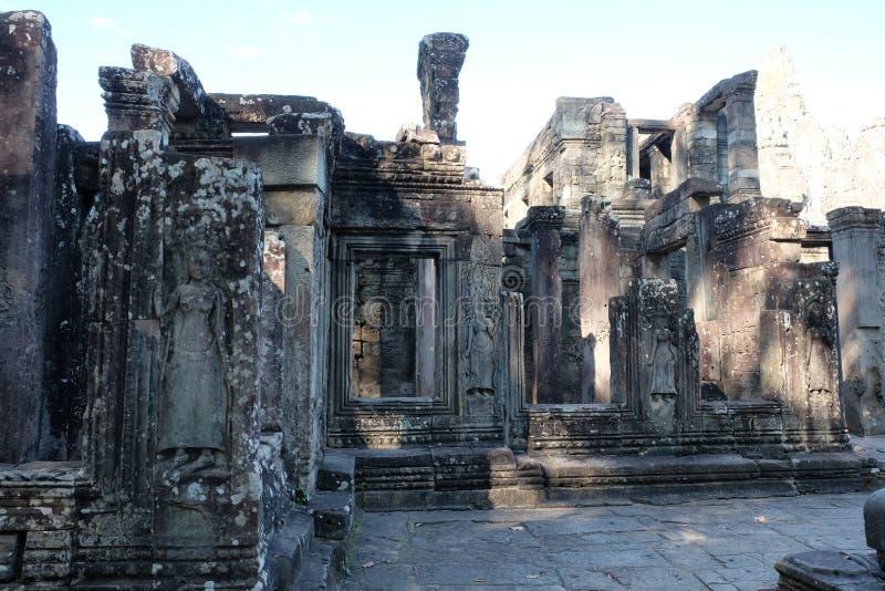 Αρχαίες καταστροφές στην Καμπότζη Αρχιτεκτονική τέχνη της μεσαιωνικής Ασίας abandoned building στοκ εικόνες