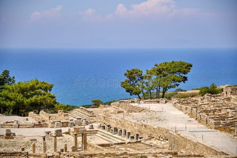 Αρχαίες καταστροφές της αρχαιότητας στο νησί της Ρόδου στοκ εικόνες