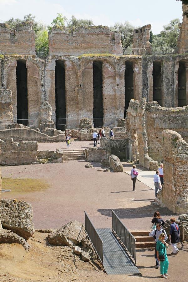 Αρχαίες καταστροφές της βίλας του Αδριανού στοκ εικόνα με δικαίωμα ελεύθερης χρήσης
