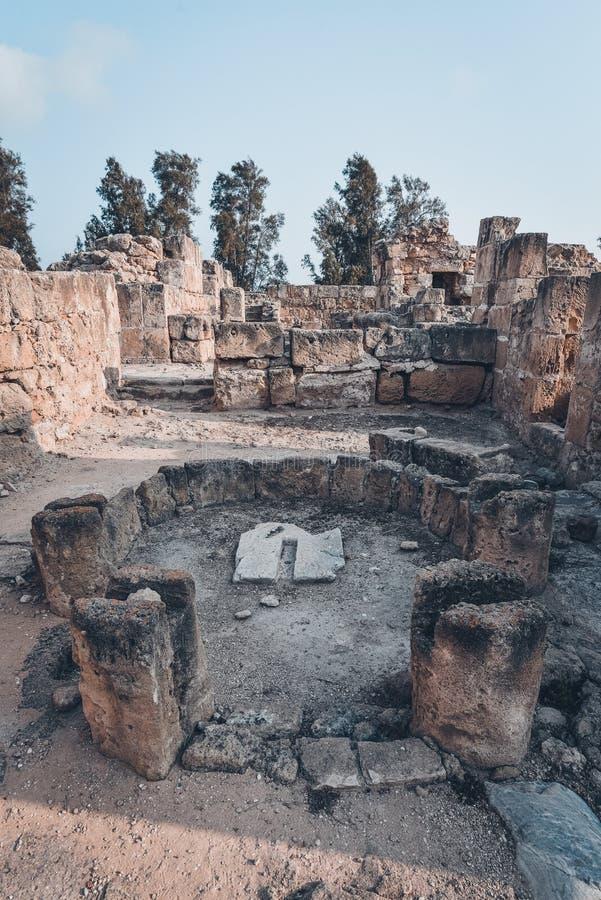 Αρχαίες καταστροφές της Kato Pafos, Κύπρος στοκ εικόνες με δικαίωμα ελεύθερης χρήσης