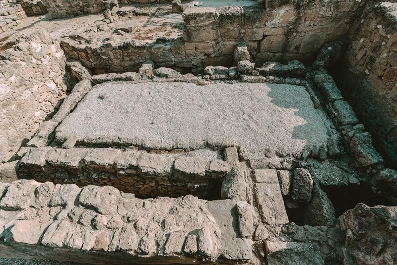Αρχαίες καταστροφές της Kato Pafos, Κύπρος στοκ φωτογραφίες με δικαίωμα ελεύθερης χρήσης