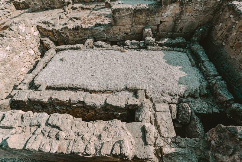 Αρχαίες καταστροφές της Kato Pafos, Κύπρος στοκ φωτογραφίες
