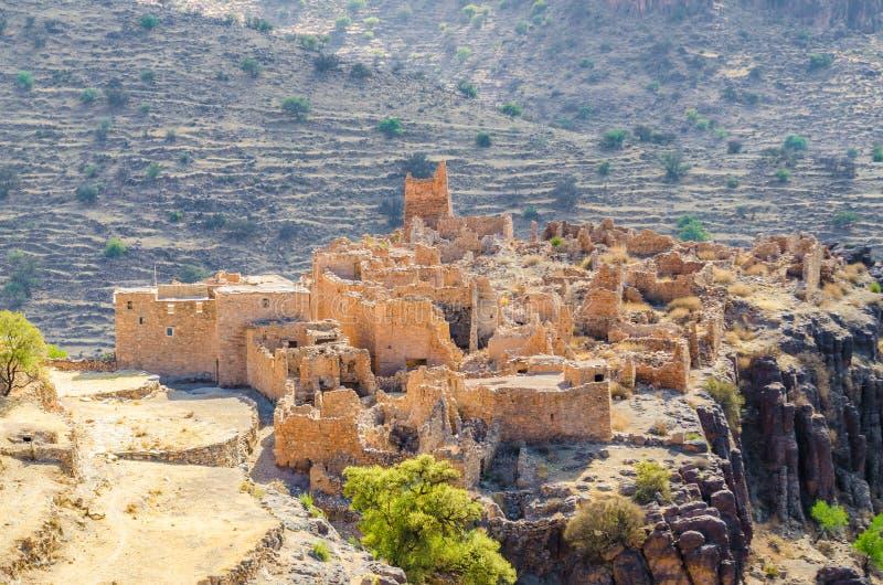 Αρχαίες καταστροφές του μαροκινού kasbah στα βουνά του αντι άτλαντα, Μαρόκο, Βόρεια Αφρική στοκ φωτογραφίες