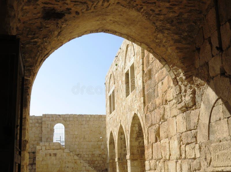αρχαίες καταστροφές Migal Tsedek στοκ εικόνα με δικαίωμα ελεύθερης χρήσης