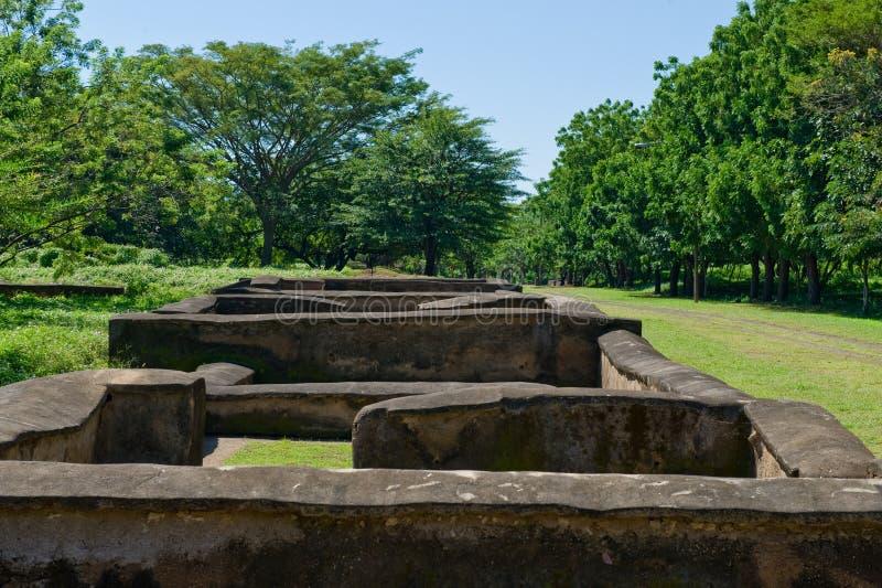 αρχαίες νικαραγουανές καταστροφές στοκ εικόνα