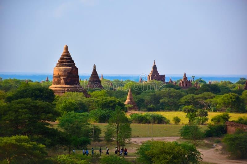 Αρχαίες παγόδες σε Bagan, το Μιανμάρ στοκ φωτογραφία με δικαίωμα ελεύθερης χρήσης