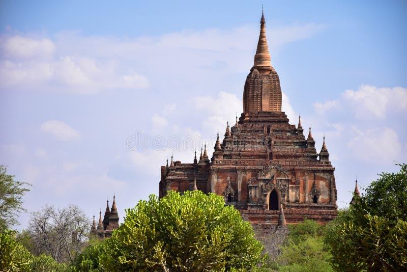 Αρχαίες παγόδες σε Bagan, το Μιανμάρ στοκ φωτογραφίες