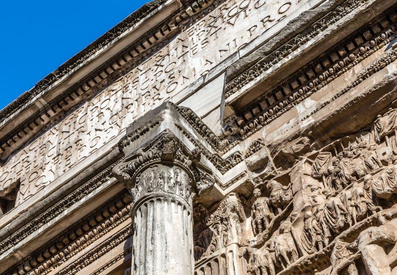 Αρχαίες ρωμαϊκές στήλες, Ρώμη, Ιταλία στοκ φωτογραφία με δικαίωμα ελεύθερης χρήσης