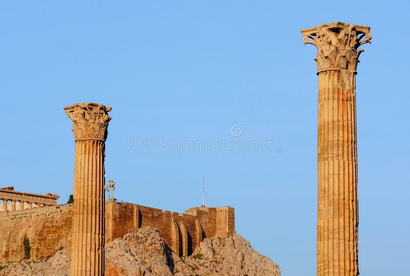 αρχαίες στήλες στοκ εικόνα
