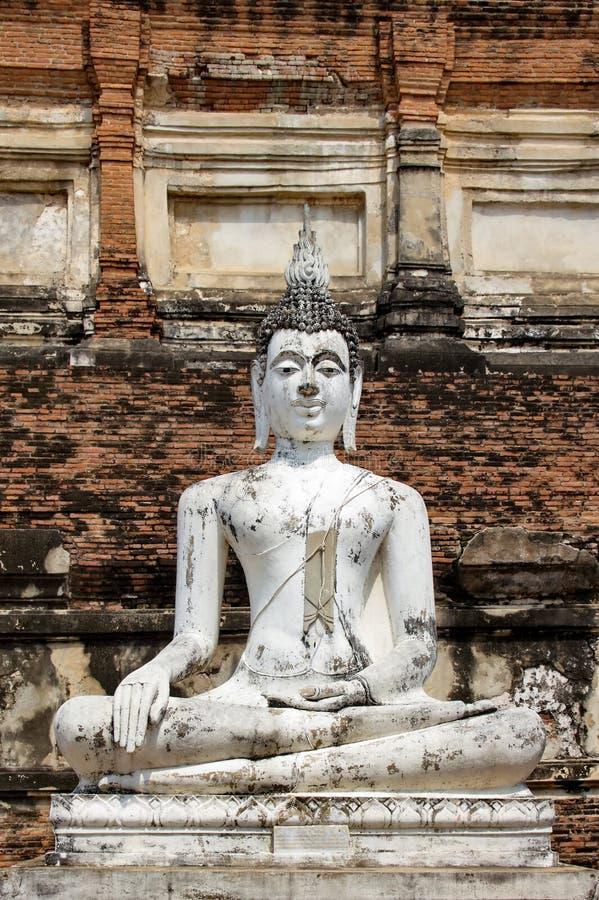 Αρχαίες ταϊλανδικές καταστροφές στο ιστορικό πάρκο Ayutthaya στοκ εικόνες