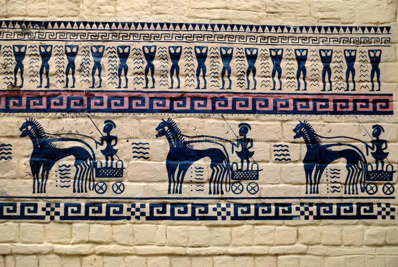 αρχαίος βράχος έργων ζωγραφικής στοκ φωτογραφία με δικαίωμα ελεύθερης χρήσης