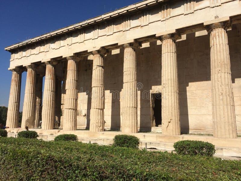 Αρχαίος ναός Αθήνα αγορών στοκ εικόνα
