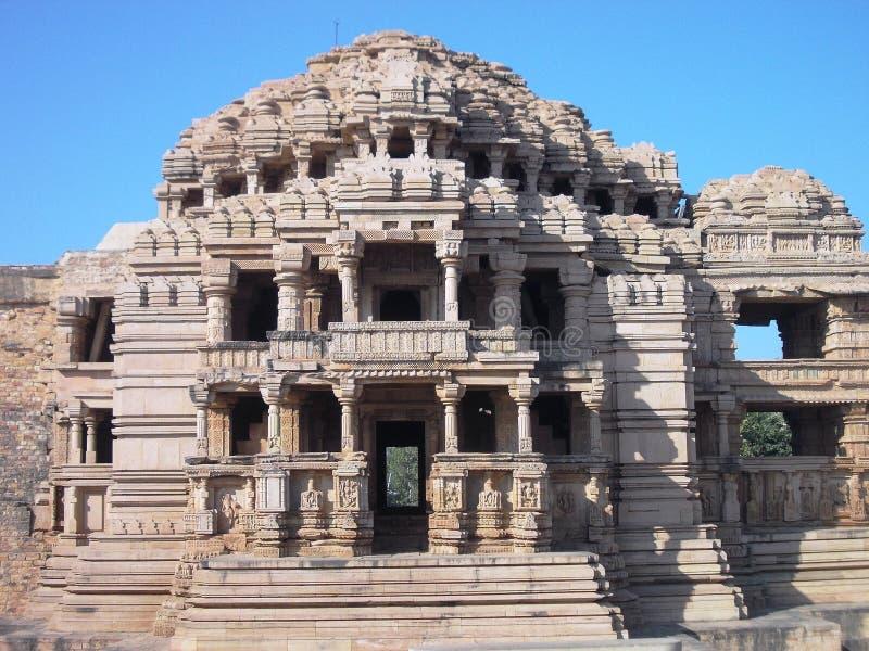 Αρχαίος ναός σε Gwalior/την Ινδία στοκ εικόνες