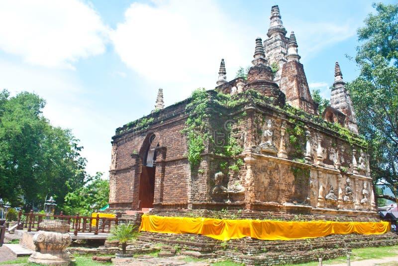 αρχαίος ναός Ταϊλάνδη chiangmai jed wad yod στοκ φωτογραφία με δικαίωμα ελεύθερης χρήσης