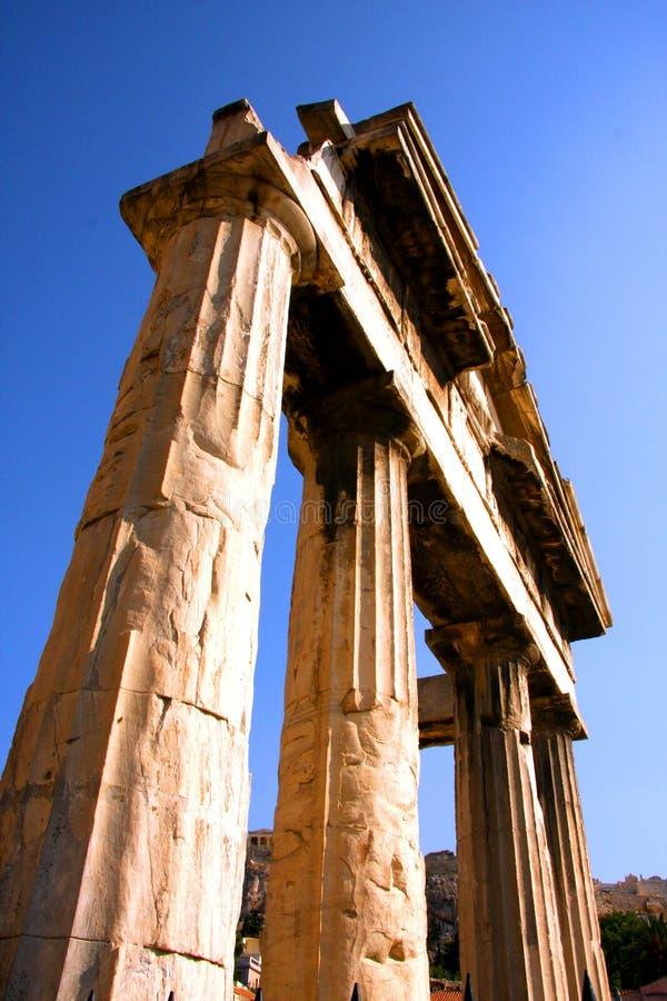 Αρχαίος ναός της Ελλάδας - Αθήνα στοκ εικόνα