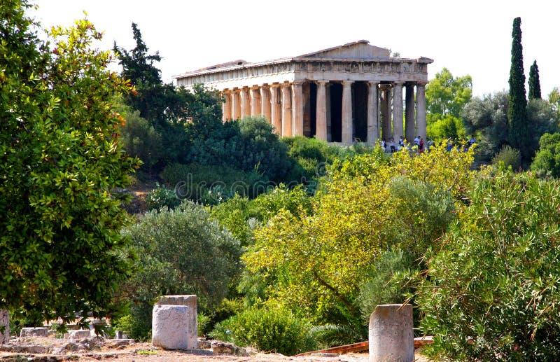 Αρχαίος ναός της Ελλάδας - Αθήνα στοκ φωτογραφία με δικαίωμα ελεύθερης χρήσης