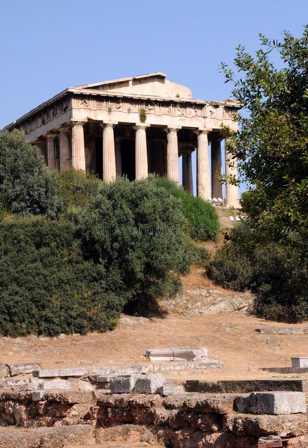 αρχαίος ναός hephaestus στοκ εικόνες