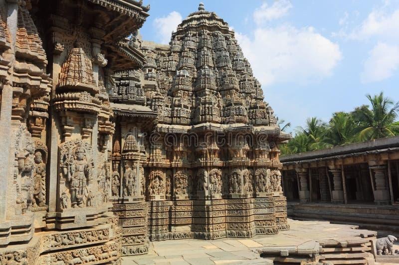 αρχαίος ναός somnathpur στοκ εικόνα