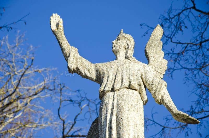 αρχαίος ουρανός ανασκόπησης αγγέλου στοκ εικόνες