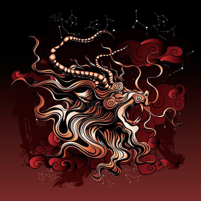 αρχαίος ο μυθικός δράκος ελεύθερη απεικόνιση δικαιώματος