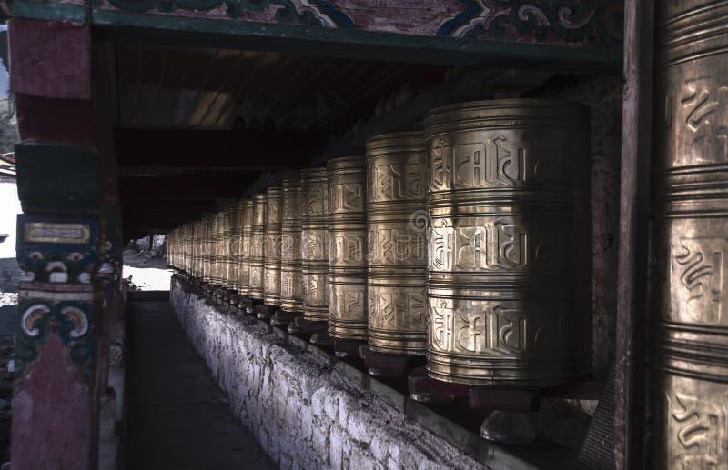 Αρχαίος παραδοσιακός θιβετιανός βουδιστικός ναός ύφους στοκ εικόνα