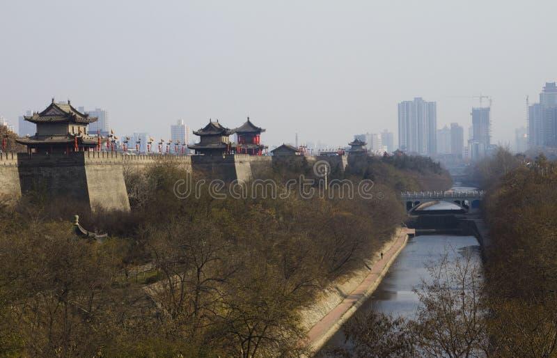Download αρχαίος τοίχος της Κίνας στοκ εικόνες. εικόνα από τούβλου - 13186126