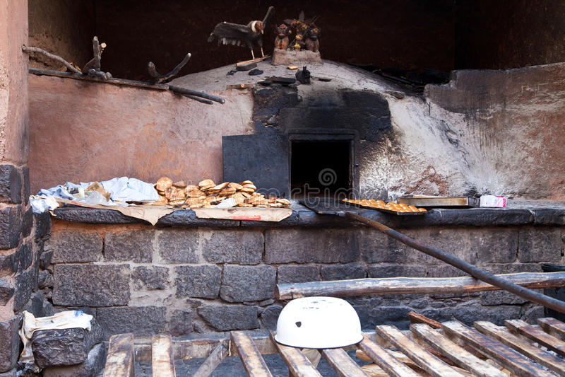 Αρχαίος φούρνος ψωμιού στοκ εικόνα
